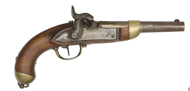 A Swiss 14-Bore 1842 Model Percussion Military Pistol