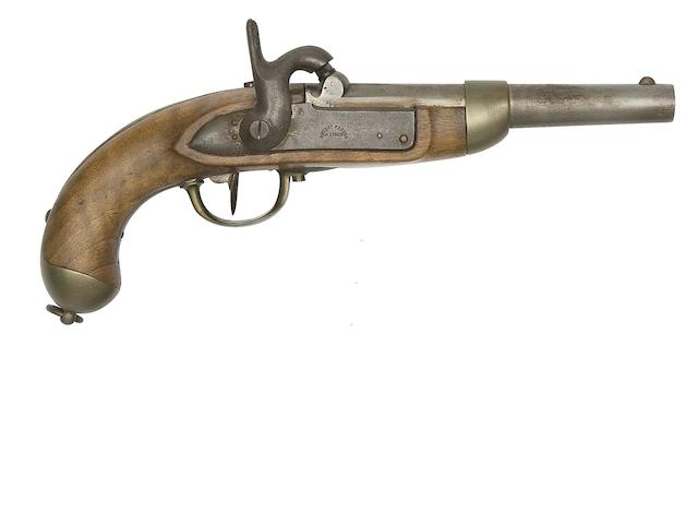 A Swiss 13-Bore 1842 Model Percussion Military Pistol