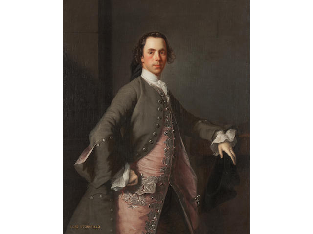 Allan Ramsay, Portrait of Lord Stonefield, oil on canvas, 50 x 40 ins