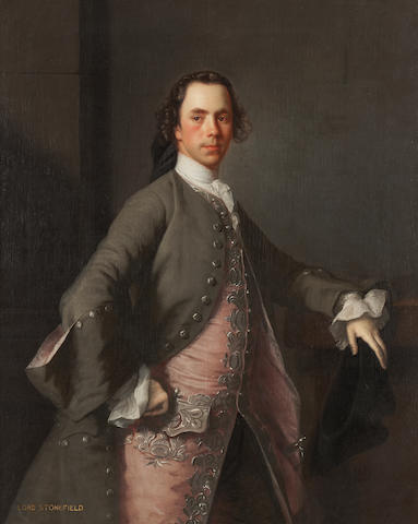 Allan Ramsay (Edinburgh 1713-1784 Dover) Three Quarter Length Portrait of John Campbell, Lord Stonefield 125 x 100 cm. (49 3/16 x 39 3/8 in.)
