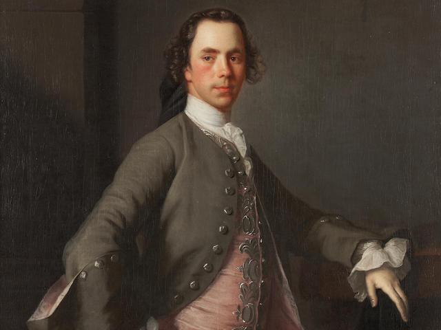 Allan Ramsay (Edinburgh 1713-1784 Dover) Three Quarter Length Portrait of John Campbell, Lord Stonefield 125 x 100 cm. (49 3/16 x 39 3/8 in.)