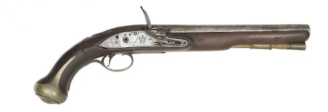 A Rare 16-Bore Flintlock 1760/78 Pattern Royal Forester's Light Dragoon Pistol