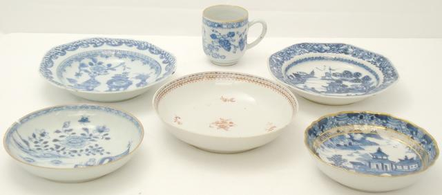 A collection of export porcelains 18th/early 19th century,