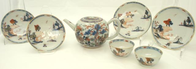 A collection of tea wares 18th/19th century