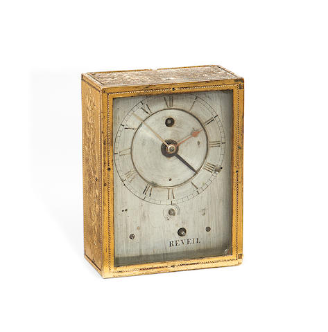 An early 19th century French gilt bronze travel alarm timepieceby Henry Marc, Paris