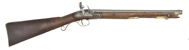 An Irish 15-Bore Flintlock Rifled Carbine