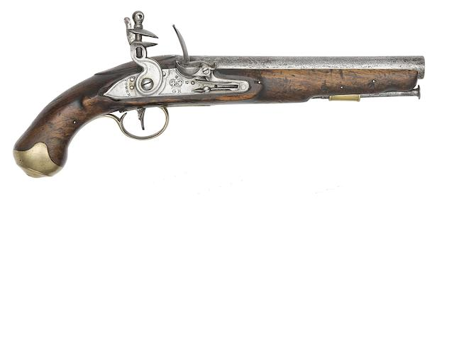 An 18-Bore Light Dragoon Flintlock Service pistol