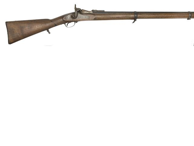 A Spanish 15MM 1859/67 Berdan Conversion Military Short Rifle (Fusil Para Cazadores)