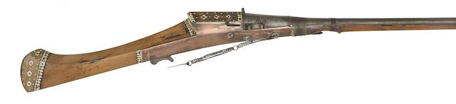 An Indian 18-Bore Matchlock Gun
