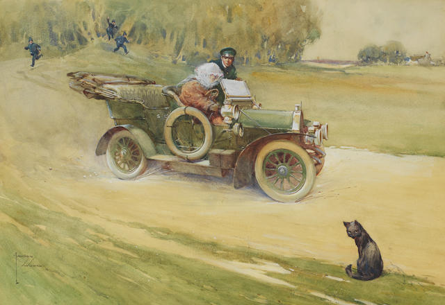 Lawson Wood (1878-1957), 'EK60 Loq - Stopped at Last!'