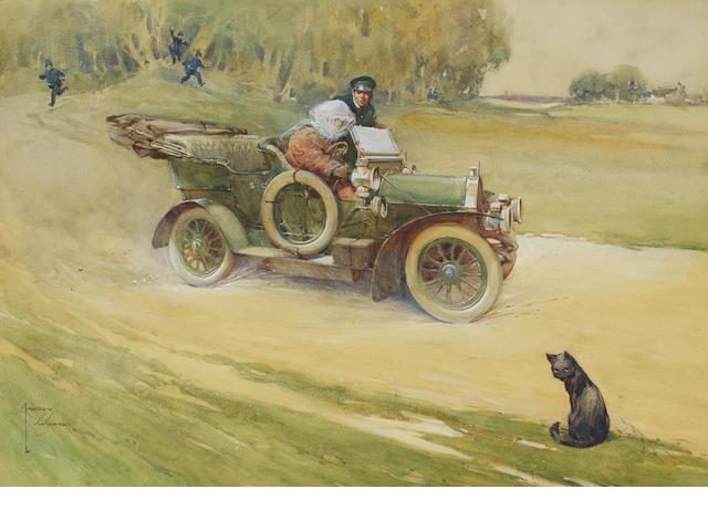 Lawson Wood (1878-1957), 'EK60 Loq - Stopped at Last!'