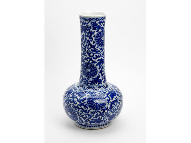 A Chinese blue and white bottle vase 19th century/20th Century