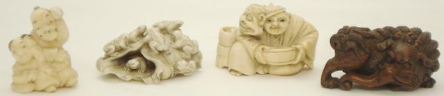 Four netsuke Japanese, 20th century