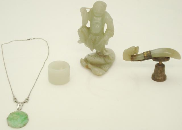 Four jade items Chinese, late Qing/Republic