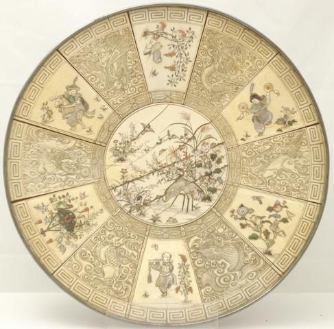 A shibayama plaque Meiji