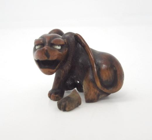 A wood netsuke 19th century