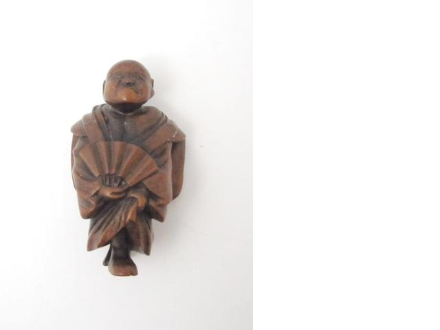 A wood netsuke   Early 20th century