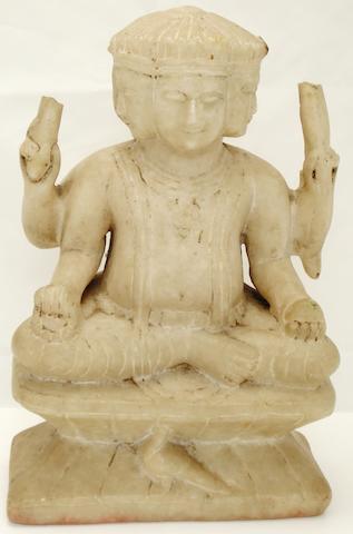 An alabaster statue of Skanda