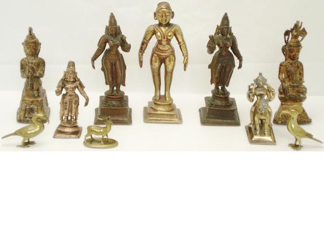 A group of bronze figures Indian