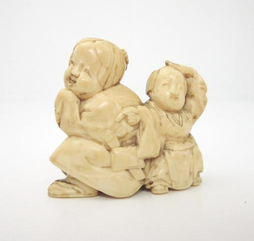 An ivory netsuke of large size 19th century