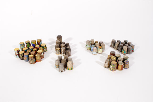 A collection of Continental thimbles