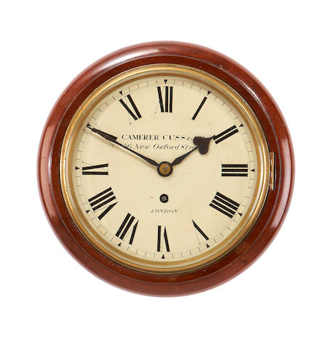 A Victorian mahogany fusee wall timepieceby Camerer Cuss & Co, London