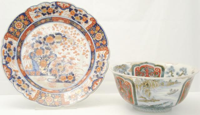 A collection of ceramics 19th century and later