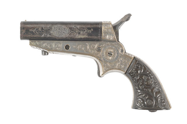 A Sharp-patent .22 (S) four-barrelled deringer by Tipping & Lawden, no. 826