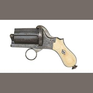 A Continental Six-Shot Pin-Fire Pocket Revolver Of Small-Bore