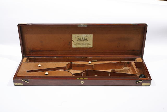 A Brass-Mounted Mahogany Gun Or Rifle Case