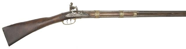 A Continental 32-Bore Over-And-Under Flintlock Sporting Gun