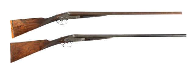 An early pair of 12-bore 'First Model Royal' sidelock non-ejector guns by Holland & Holland, no. 8942/3