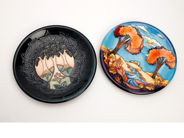 Two Moorcroft plates