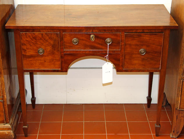 A small mahogany sideboard, 19th Century and later,