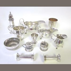 A small quantity of silver items