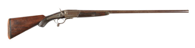 An 8-bore (3¼in) single-barrelled hammer wild-fowling gun by W. Kavanagh & Son, no. 10190/65330
