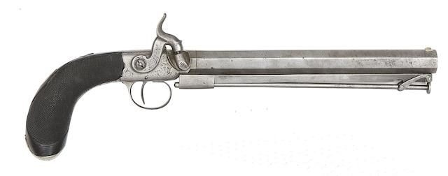 A 50-Bore Percussion Box-Lock Belt Pistol, And Another Of 50-Bore
