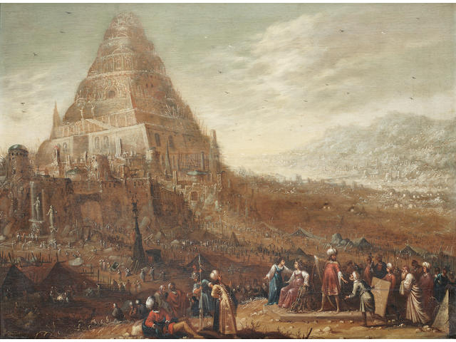 Rombout van Troyen (Amsterdam(?) circa 1605-1650) The Tower of Babel