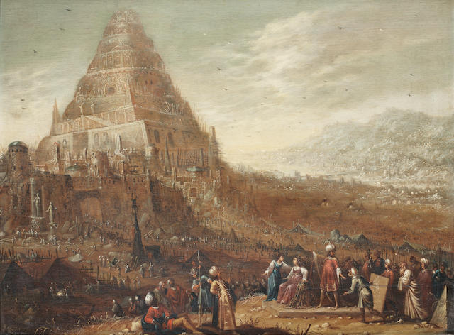 Rombout van Troyen (?Amsterdam circa 1605-1655) The Tower of Babel