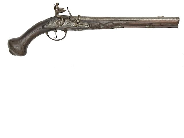 A Continental 15-Bore Flintlock Holster Pistol