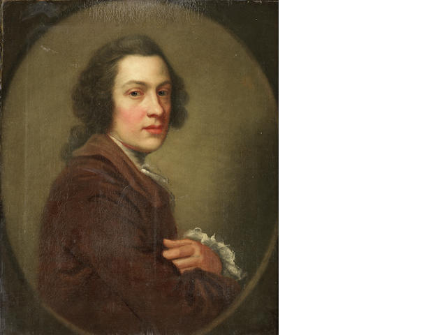 Circle of George Knapton (London 1698-1778) Portrait of a gentleman, half-length,