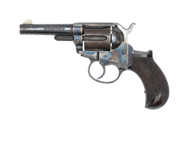 "An early .38 (Colt) 'Model 1877 ""Lightning""' revolver by Colt, no. 1016"