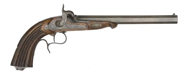 A Continental 28-Bore Percussion Target Pistol