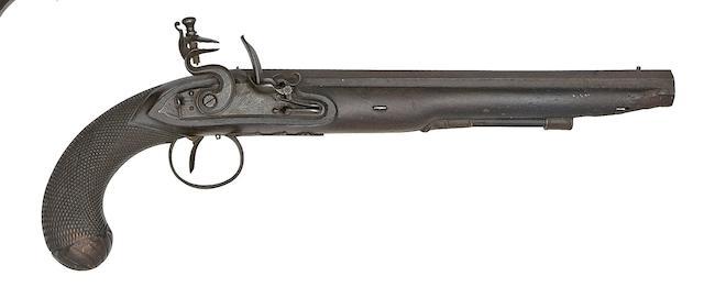 A 22-Bore Flintlock Duelling Pistol