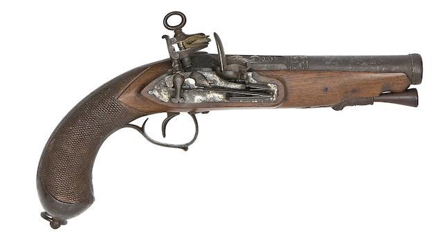 A Spanish 15-Bore Miquelet-Lock Pistol