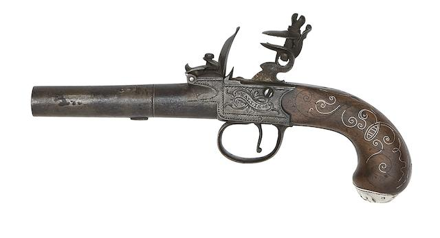 A 50-Bore Flintlock Box-Lock Pocket Pistol