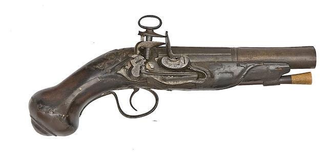 A Spanish 25-Bore Miquelet-Lock Pistol