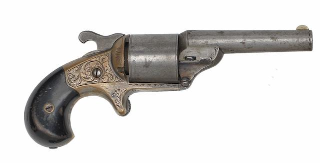 A .32 Moore's Patent Six-Shot Front-Loading Teat-Fire Revolver