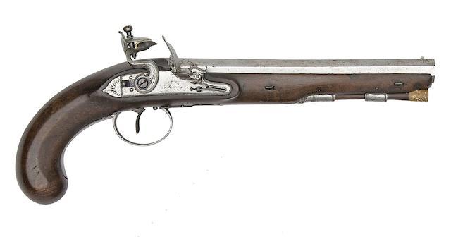 A 20-Bore Flintlock Duelling Pistol