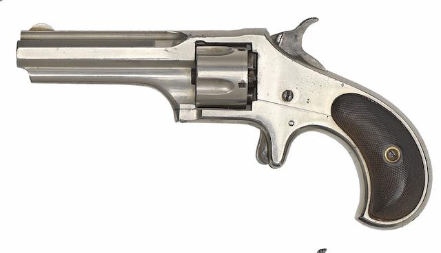 A .30 Remington-Smoot New Model No. 1 Five-Shot Rim-Fire Revolver